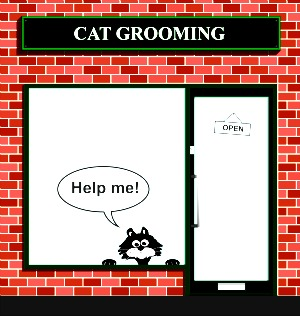 Cat grooming shop